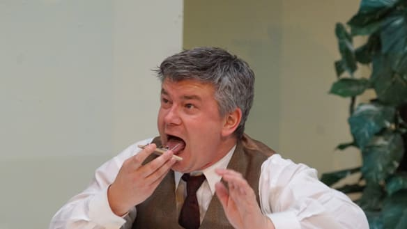 Slapstick, props, pure cheek: Canberra Rep's new show opens this week