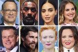 Attracted by the boom in overseas production: (from top left) Tom Hanks, Idris Elba, Melissa Barrera, Natalie Portman, Matt Damon, Christian Bale, Tilda Swinton and Melissa McCarthy.
