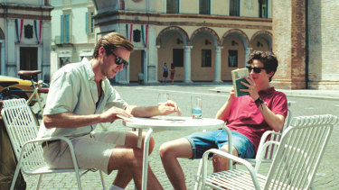 The actor (left) with co-star Timothee Chalamet in 2017 film Call Me By Your Name.