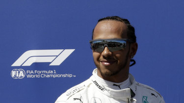 Lewis Hamilton qualified in pole position.