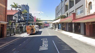 The alleged rape occurred in a laneway off Warner Street in Fortitude Valley.