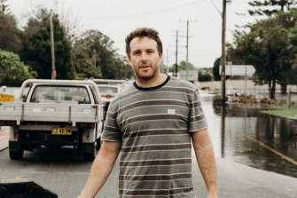 Tarrant Lakeman has lost his home in the floods.