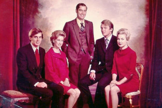 The Trump siblings: from left, Robert, Elizabeth, Fred jnr, Donald and Maryanne (photo undated).