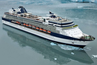 The Celebrity Millennium, pictured on an earlier cruise in Alaska.