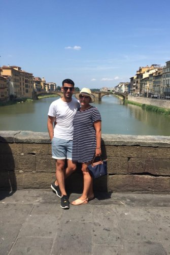 Anna and her husband Mark in Italy before the accident.