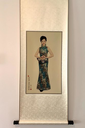 The photo on Gladys Liu's kitchen wall of the MP dressed in a cheongsam. Photo courtesy of Gladys Liu