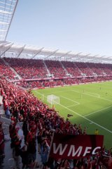 An artist's impression of the potential new stadium west of Melbourne.