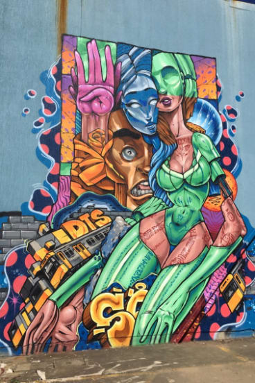 Mr Fenn has been creating street art for more than 15 years.