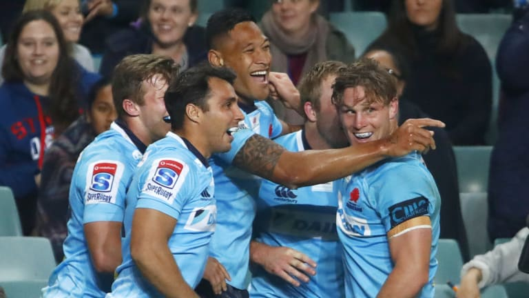 On the cusp: Israel Folau is likely to stay in Waratahs blue next year.