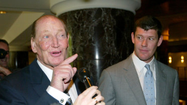 Club members: the late Kerry Packer and his son James.