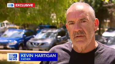 Kevin Hartigan has issued an emotional apology on behalf of his family after a young man was killed in a Mandurah boating tragedy in the early hours of Sunday morning.