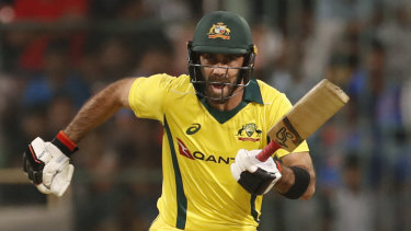 Rich vein of form: Glenn Maxwell saved Australia's innings and gave them their seventh ODI win in a row.