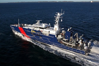 Austal's Cape-class patrol boat for the Australian Border Force. The eight 58-metre aluminium monohulls were delivered between March 2013 and September 2015.
