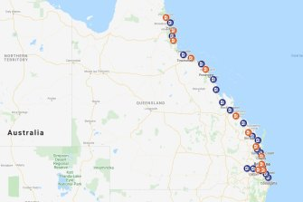There are now 31 electric car charging stations between Port Douglas and Coolangatta and west to Toowoomba.
