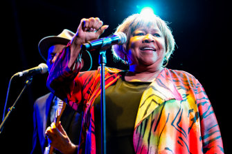 Mavis Staples at the zoo.