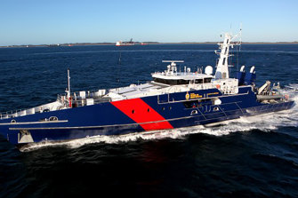 Australia's Cape Class patrol boat, built by WA-based Austal.