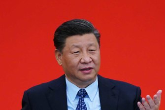 Opting for a message of unity: Chinese President Xi Jinping.