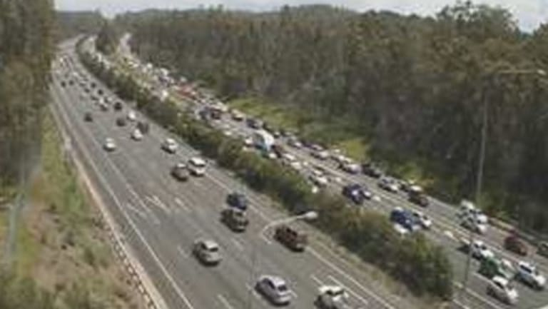 Northbound delays on the M1 through Gaven just after 1pm, following a truck rollover.