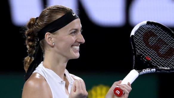 Petra Kvitova celebrates her win.