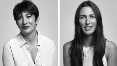 Ghislaine Maxwell, left, and Katherine Keating in their 2014 interview.