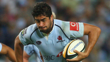 Morgan Turinui playing for the Waratahs in 2007.