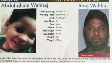 Poster shows Abdul-ghani Wahhaj, left, and his father Siraj Wahhaj, after he went missing.