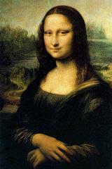 Celebrity art: Leonardo da Vinci's Mona Lisa.