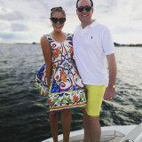 Juliet Schiff and her estranged husband Denham.