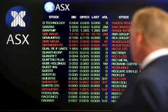 The ASX 200 ended the session down but rose 182 points, or 2.7 per cent, over the month.