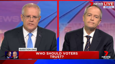 Prime Minister Scott Morrison and Opposition leader Bill Shorten go head-to-head in the televised leaders' debate ahead of the federal election.