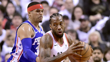 Kawhi Leonard was the star in game one for the Raptors.