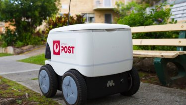 "The Australia Post delivery robot nicknamed ""Billy the Box"""