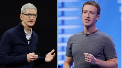 The smouldering feud between Facebook and Apple is erupting
