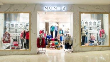 Generic Noni B store shopfront.