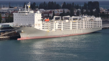 The Al Kuwait remains in Fremantle, having missed its sailing deadline due to the coronavirus.