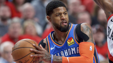 Riding shotgun: Paul George has linked up with Leonard at the Clippers.