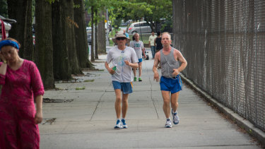 As New Yorkers go about their daily lives, runners pound out lap after lap in a race they have 52 days to finish.