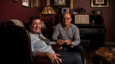 Anne and Paul Gabrielides at home in May 2017.