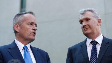 Opposition Leader Bill Shorten and shadow environment minister Tony Burke.