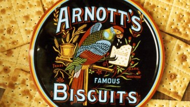 The famous Arnott's parrot emblem was reportedly taken from a sketch by the wife of the company founder's eldest son and trademarked more than 100 years ago.