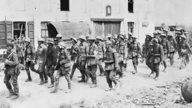 Australian troops captured by Germans near Fromelles on the Western Front. In both World Wars, there were many single days in which more Australian died than in all conflicts in the past 70 years.