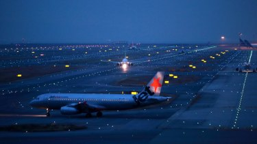 The Jetstar 787 remains grounded at Kansai International Airport while engineers inspect it.