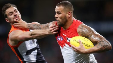 Pushing seven figures again: Lance Franklin.