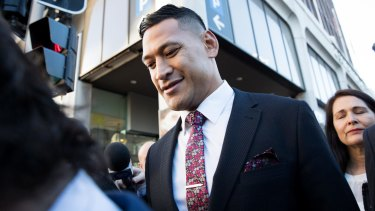 Israel Folau wants to play rugby league again for Tonga.
