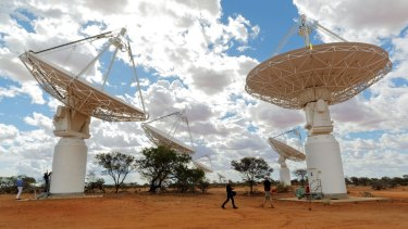 The Australian Square Kilometre Array Pathfinder radio telescope array in Western Australia.