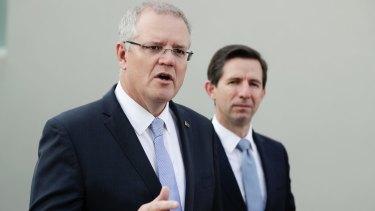 Prime Minister Scott Morrison and Minister for Trade, Tourism and Investment Simon Birmingham.