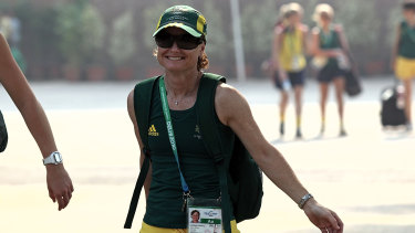 Katrina Powell at the 2010 Commonwealth Games in Delhi.