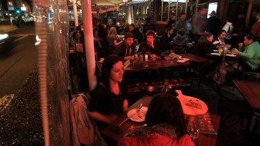 The al fresco restaurants along Eat Street in Parramatta fear disruption.
