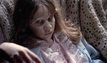 Possessed: Linda Blair in The Exorcist.