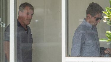 Scandal: Jarrod McLean and Darren Weir (centre) face lengthy bans.